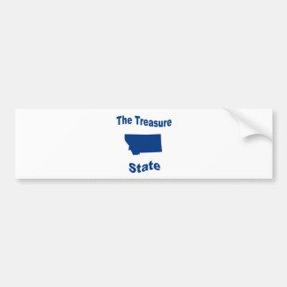 Montana: The Treasure State Bumper Sticker