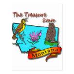 Montana Treasure State Bear Lark Flower Post Cards