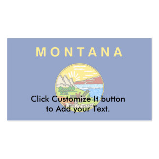 Montana, United States flag Business Card Templates