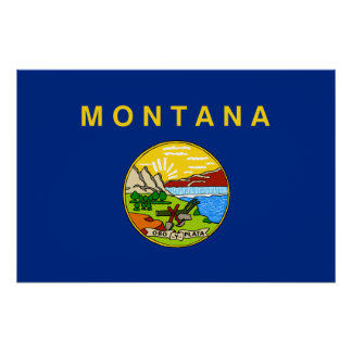 Montana, United States flag Posters