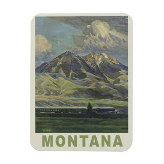 Montana USA Vintage Travel magnet