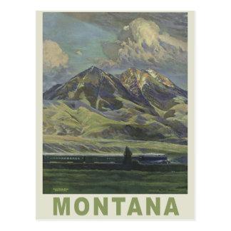 Montana USA vintage travel postcard
