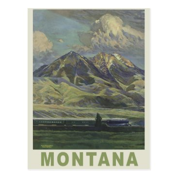 USA Themed Montana USA vintage travel postcard
