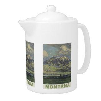 Montana USA Vintage Travel teapot