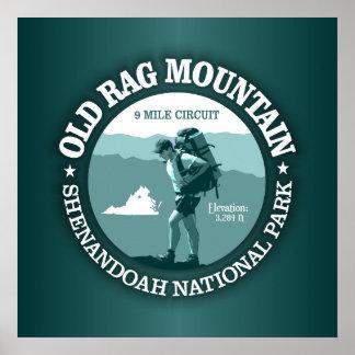 Montaña vieja del trapo (rd) póster