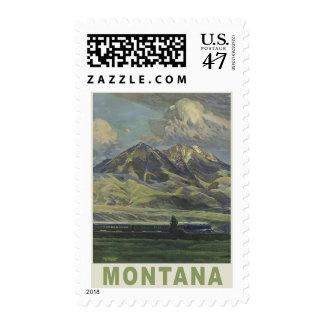 Montana Vintage Travel novelty postage stamps