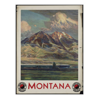 Montana Vintage Travel Poster Ad Retro Prints