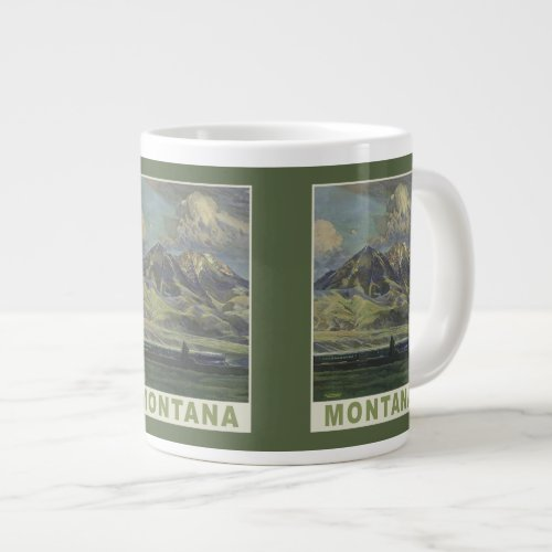 Montana Vintage Travel Poster mugs