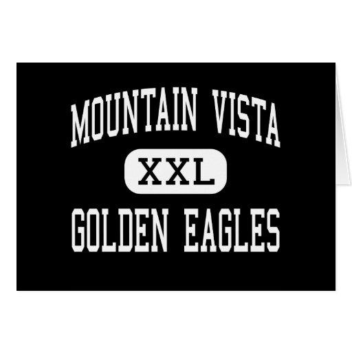 Montaña Vista - Eagles de oro - rancho de las mont Tarjeta De Felicitación