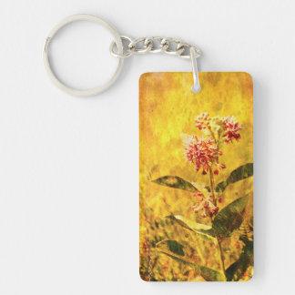 Montana Wildflower Acrylic Keychain Double-Sided Rectangular Acrylic Keychain