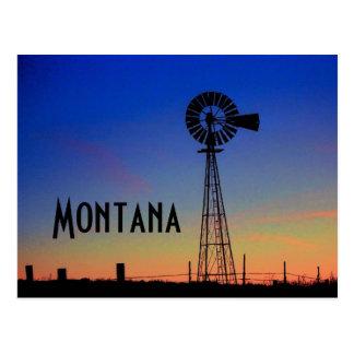 Montana Windmill Postcard