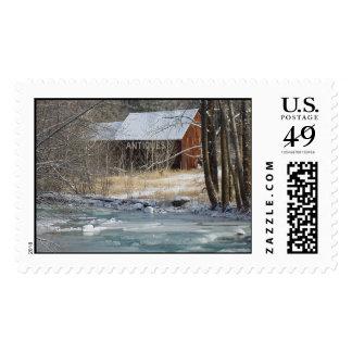 Montana Winter Scenery Postage Stamp
