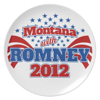 Montana with Romney 2012 Party Plates