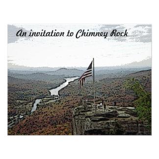 Montaña y cala de la roca de la chimenea anuncios
