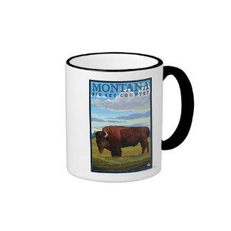 MontanaBison Vintage Travel Poster Coffee Mug