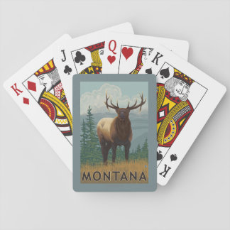 MontanaElk Scene Playing Cards