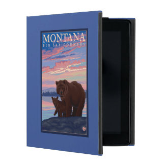 MontanaMomma Bear and Cub Vintage Travel iPad Cover