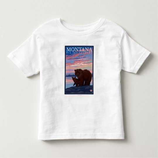 MontanaMomma Bear and Cub Vintage Travel Toddler T-shirt