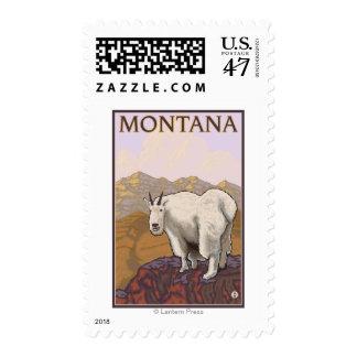 MontanaMountain Goat Vintage Travel Poster Postage