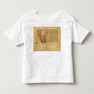 MontanaPanoramic MapMontana Camisetas