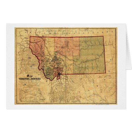 MontanaPanoramic MapMontana Greeting Cards