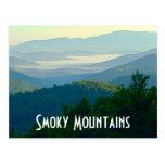 Montañas ahumadas tarjetas postales
