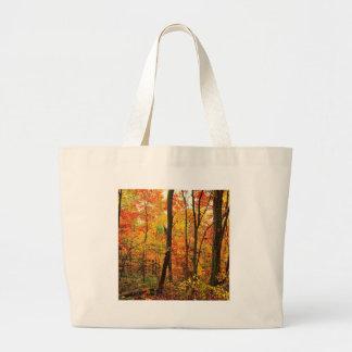 Montañas apalaches carmesís del bosque bolsas lienzo