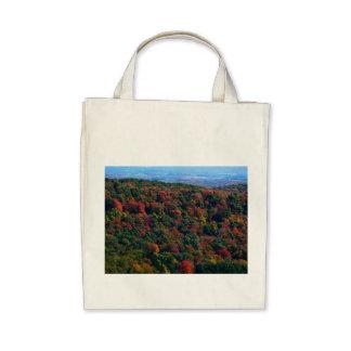 Montañas apalaches en bolso de ultramarinos orgáni bolsas lienzo