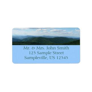 Montañas apalaches I de Shenandoah Etiquetas De Dirección