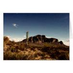 Montañas Arizona de la superstición de Notecard Tarjeta Pequeña