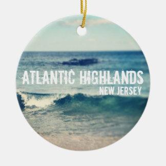 Montañas atlánticas - 2013 - recuperación en la adorno redondo de cerámica