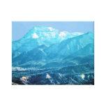 Montañas azules lona envuelta para galerias
