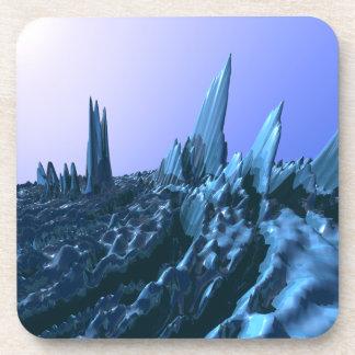 Montañas azules posavasos de bebida