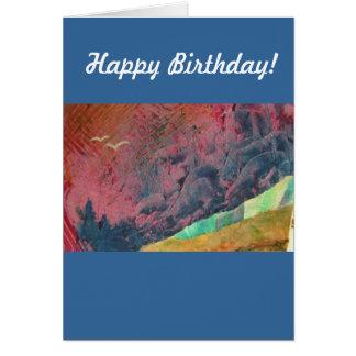 Montañas azules tarjeta de felicitación