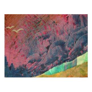 Montañas azules tarjetas postales