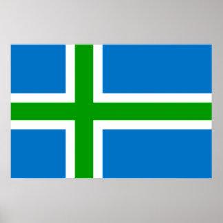 Montañas bandera de Escocia, Reino Unido Impresiones