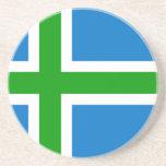 Montañas bandera de Escocia, Reino Unido Posavasos Diseño