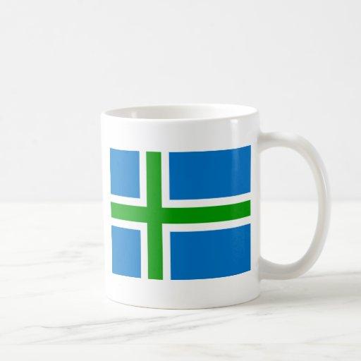 Montañas bandera de Escocia, Reino Unido Tazas De Café