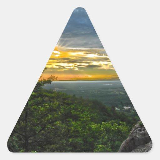 montañas barkway del canto azul de Carolina del Calcomania De Trianguladas