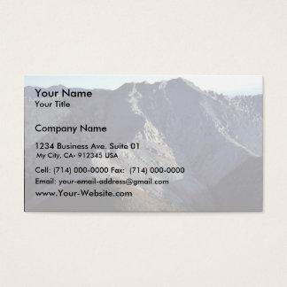Montañas blancas tarjetas de visita