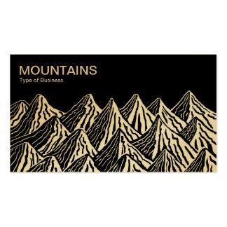 Montañas - blancas y negras (oro) tarjetas de visita