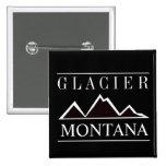Montañas blancos y negros del glaciar pins
