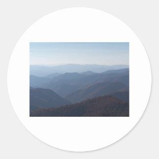 montañas Blue Ridge Pegatina Redonda