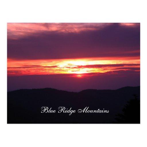 montañas Blue Ridge Tarjetas Postales