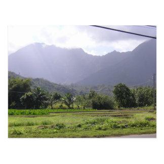 Montañas brumosas en Kauai Hawaii Tarjetas Postales