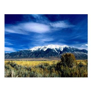Montañas capsuladas nieve en Idaho Postales
