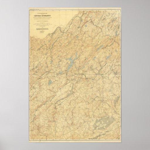Montañas centrales de New Jersey Posters