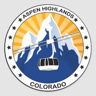 Montañas Colorado de Aspen Pegatina Redonda
