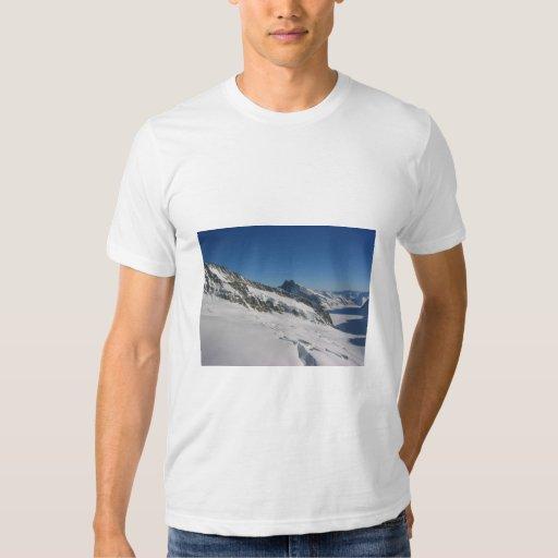 Montañas cubiertas con nieve playeras