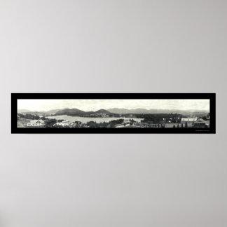 Montañas de Adirondack y Lake Placid 1912 Póster